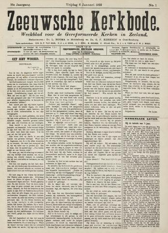 Zeeuwsche kerkbode, weekblad gewijd aan de belangen der gereformeerde kerken/ Zeeuwsch kerkblad 1922