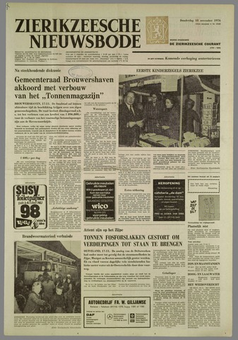 Zierikzeesche Nieuwsbode 1976-11-18
