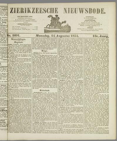 Zierikzeesche Nieuwsbode 1854-08-14