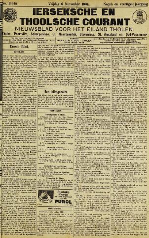 Ierseksche en Thoolsche Courant 1931-11-06