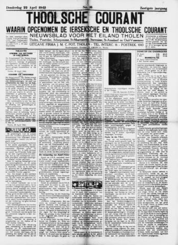 Ierseksche en Thoolsche Courant 1943-04-22