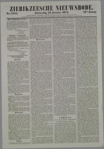 Zierikzeesche Nieuwsbode 1874-10-24
