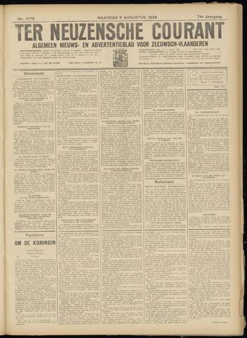 Ter Neuzensche Courant. Algemeen Nieuws- en Advertentieblad voor Zeeuwsch-Vlaanderen / Neuzensche Courant ... (idem) / (Algemeen) nieuws en advertentieblad voor Zeeuwsch-Vlaanderen 1934-08-06