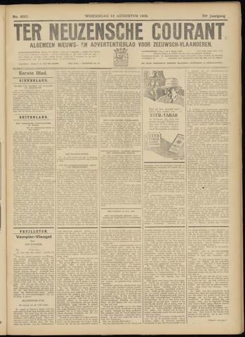 Ter Neuzensche Courant. Algemeen Nieuws- en Advertentieblad voor Zeeuwsch-Vlaanderen / Neuzensche Courant ... (idem) / (Algemeen) nieuws en advertentieblad voor Zeeuwsch-Vlaanderen 1930-08-13