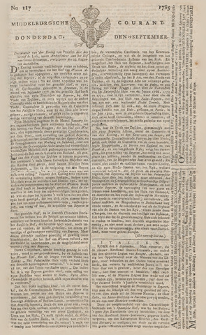 Middelburgsche Courant 1785-09-29