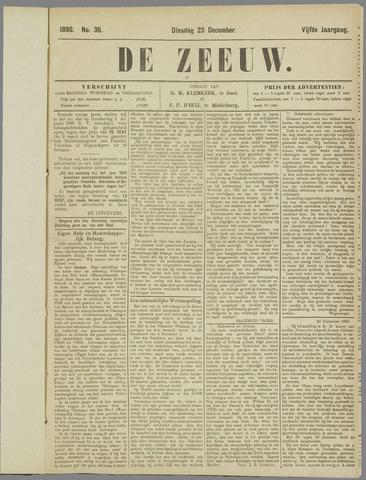 De Zeeuw. Christelijk-historisch nieuwsblad voor Zeeland 1890-12-23