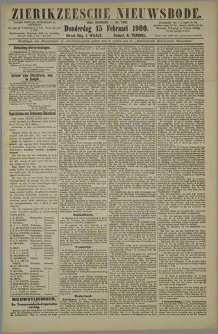 Zierikzeesche Nieuwsbode 1900-02-15