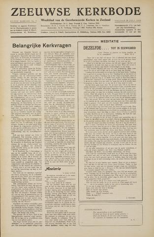 Zeeuwsche kerkbode, weekblad gewijd aan de belangen der gereformeerde kerken/ Zeeuwsch kerkblad 1955-07-29