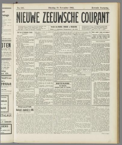 Nieuwe Zeeuwsche Courant 1911-11-28