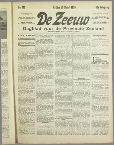 De Zeeuw. Christelijk-historisch nieuwsblad voor Zeeland 1929-03-15