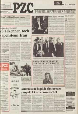 Provinciale Zeeuwse Courant 1986-11-14
