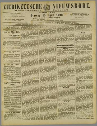 Zierikzeesche Nieuwsbode 1902-04-15
