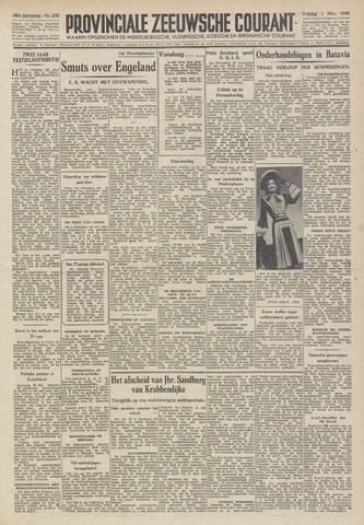 Provinciale Zeeuwse Courant 1946-11-01