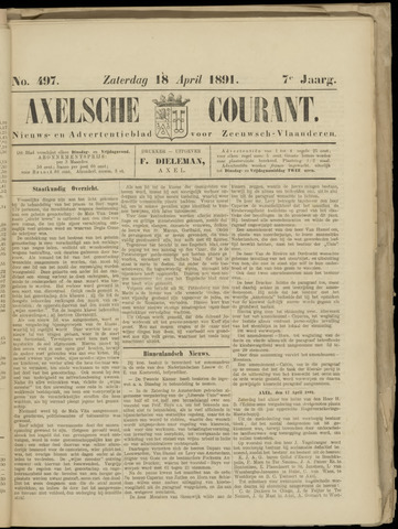 Axelsche Courant 1891-04-18