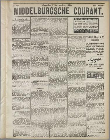 Middelburgsche Courant 1921-11-07