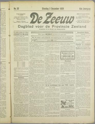 De Zeeuw. Christelijk-historisch nieuwsblad voor Zeeland 1929-12-03