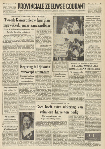 Provinciale Zeeuwse Courant 1958-02-12