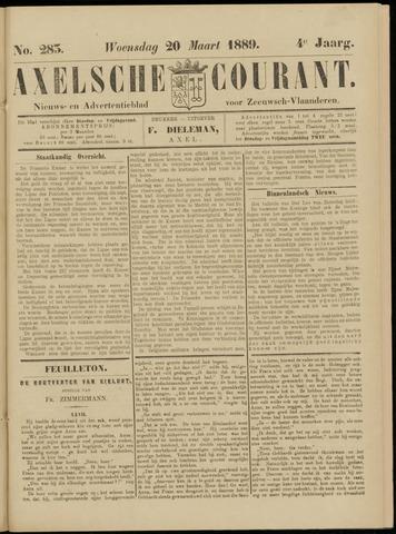 Axelsche Courant 1889-03-20