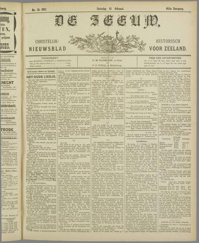 De Zeeuw. Christelijk-historisch nieuwsblad voor Zeeland 1897-02-13