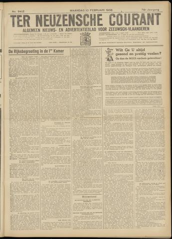 Ter Neuzensche Courant. Algemeen Nieuws- en Advertentieblad voor Zeeuwsch-Vlaanderen / Neuzensche Courant ... (idem) / (Algemeen) nieuws en advertentieblad voor Zeeuwsch-Vlaanderen 1936-02-10