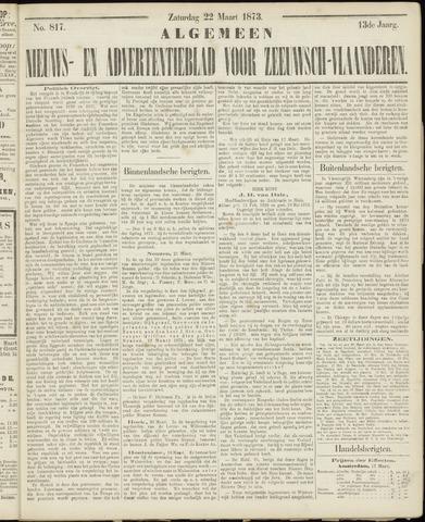 Ter Neuzensche Courant. Algemeen Nieuws- en Advertentieblad voor Zeeuwsch-Vlaanderen / Neuzensche Courant ... (idem) / (Algemeen) nieuws en advertentieblad voor Zeeuwsch-Vlaanderen 1873-03-22
