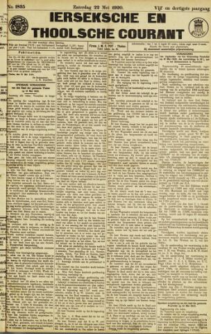 Ierseksche en Thoolsche Courant 1920-05-22