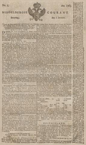 Middelburgsche Courant 1763