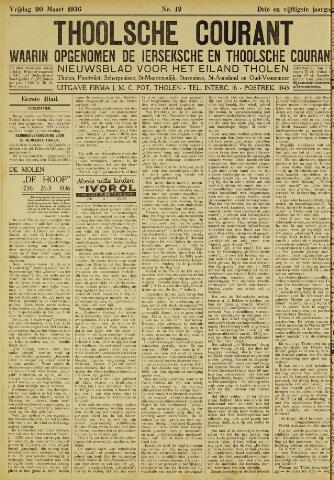Ierseksche en Thoolsche Courant 1936-03-20
