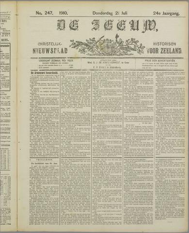 De Zeeuw. Christelijk-historisch nieuwsblad voor Zeeland 1910-07-21
