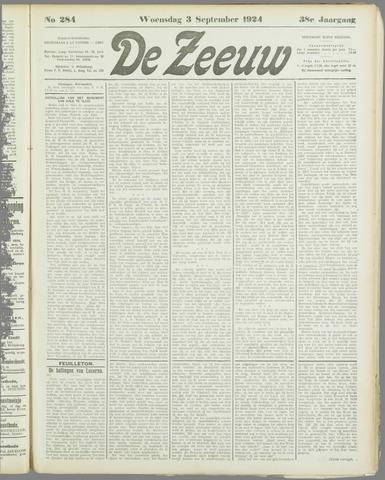 De Zeeuw. Christelijk-historisch nieuwsblad voor Zeeland 1924-09-03