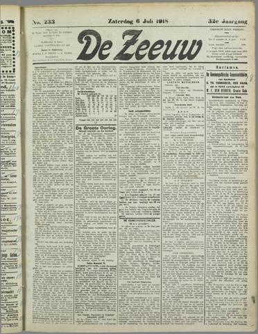 De Zeeuw. Christelijk-historisch nieuwsblad voor Zeeland 1918-07-06