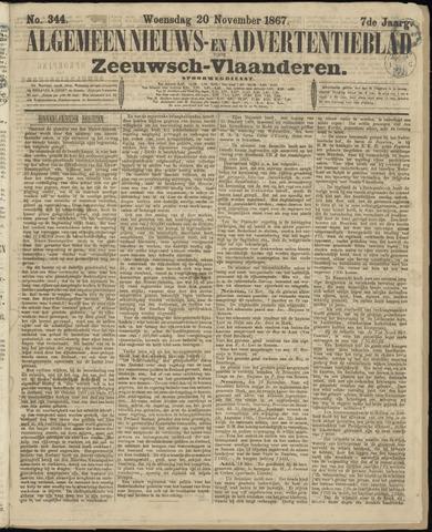 Ter Neuzensche Courant. Algemeen Nieuws- en Advertentieblad voor Zeeuwsch-Vlaanderen / Neuzensche Courant ... (idem) / (Algemeen) nieuws en advertentieblad voor Zeeuwsch-Vlaanderen 1867-11-20