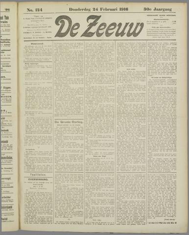 De Zeeuw. Christelijk-historisch nieuwsblad voor Zeeland 1916-02-24