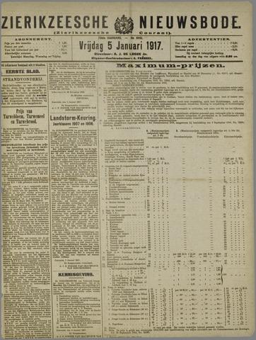 Zierikzeesche Nieuwsbode 1917-01-05