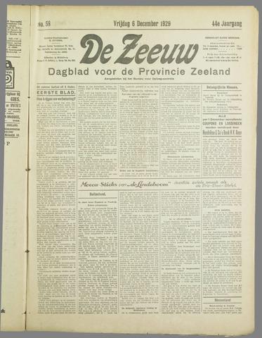 De Zeeuw. Christelijk-historisch nieuwsblad voor Zeeland 1929-12-06