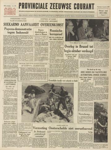 Provinciale Zeeuwse Courant 1962-08-06