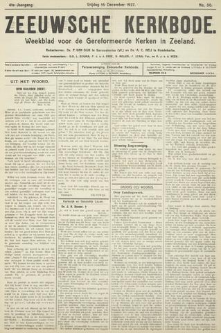 Zeeuwsche kerkbode, weekblad gewijd aan de belangen der gereformeerde kerken/ Zeeuwsch kerkblad 1927-12-16
