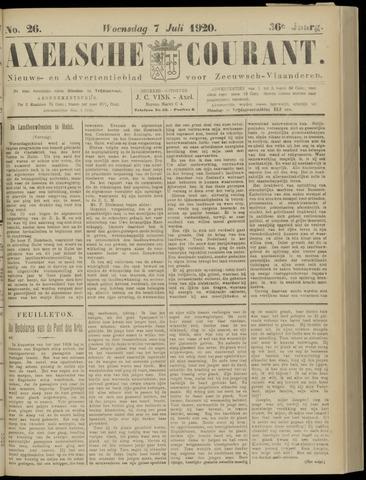 Axelsche Courant 1920-07-07