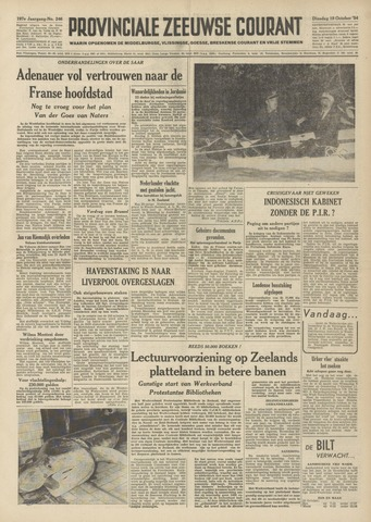 Provinciale Zeeuwse Courant 1954-10-19