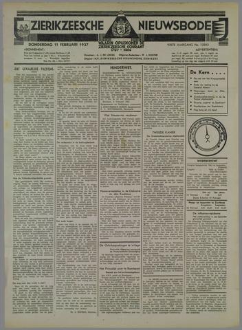 Zierikzeesche Nieuwsbode 1937-02-11