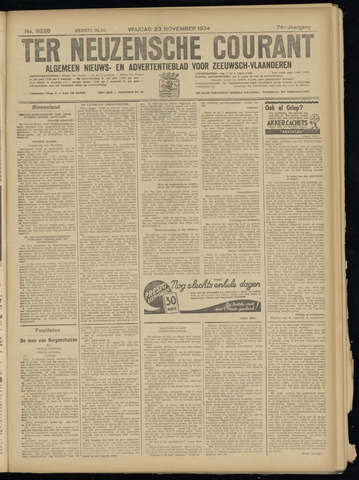 Ter Neuzensche Courant. Algemeen Nieuws- en Advertentieblad voor Zeeuwsch-Vlaanderen / Neuzensche Courant ... (idem) / (Algemeen) nieuws en advertentieblad voor Zeeuwsch-Vlaanderen 1934-11-23