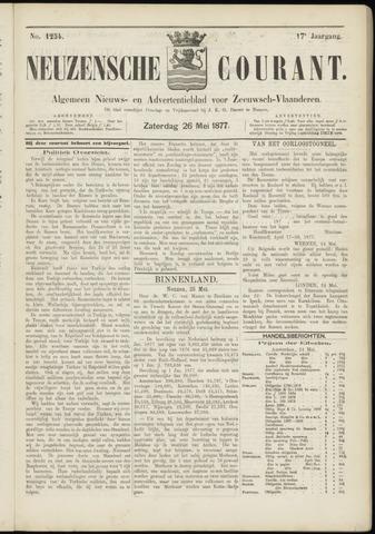 Ter Neuzensche Courant. Algemeen Nieuws- en Advertentieblad voor Zeeuwsch-Vlaanderen / Neuzensche Courant ... (idem) / (Algemeen) nieuws en advertentieblad voor Zeeuwsch-Vlaanderen 1877-05-26