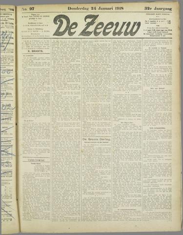De Zeeuw. Christelijk-historisch nieuwsblad voor Zeeland 1918-01-24
