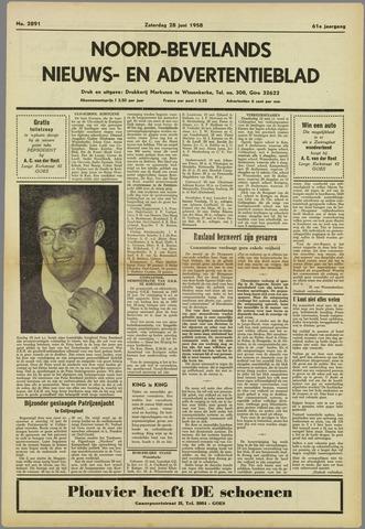 Noord-Bevelands Nieuws- en advertentieblad 1958-06-28