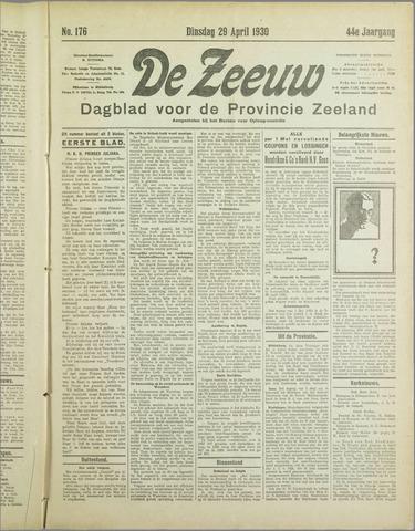 De Zeeuw. Christelijk-historisch nieuwsblad voor Zeeland 1930-04-29