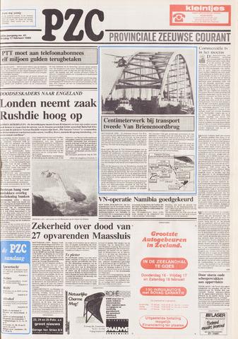 Provinciale Zeeuwse Courant 1989-02-17