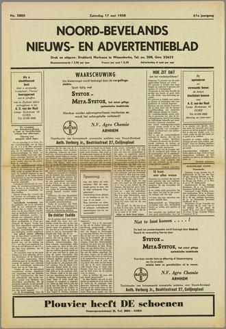Noord-Bevelands Nieuws- en advertentieblad 1958-05-17