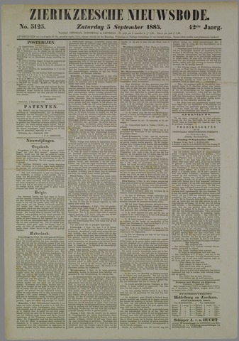 Zierikzeesche Nieuwsbode 1885-09-05