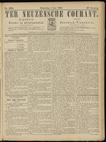 Ter Neuzensche Courant. Algemeen Nieuws- en Advertentieblad voor Zeeuwsch-Vlaanderen / Neuzensche Courant ... (idem) / (Algemeen) nieuws en advertentieblad voor Zeeuwsch-Vlaanderen 1902-06-05
