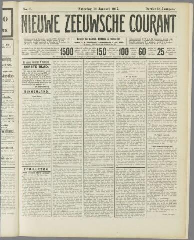 Nieuwe Zeeuwsche Courant 1917-01-13